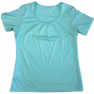 Eddie Bauer scoop neck tee shirt blouse Medium
